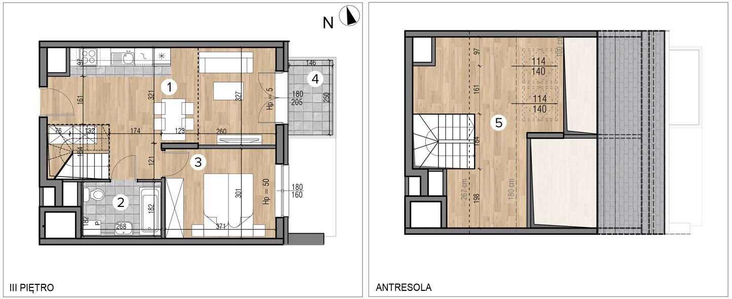 Wojszyckie Alejki / budynek 1 / mieszkanie 62/M2 rzut 1
