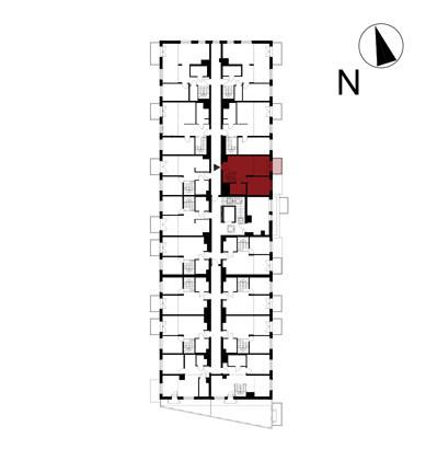 Wojszyckie Alejki / budynek 1 / mieszkanie 62/M2 rzut 2