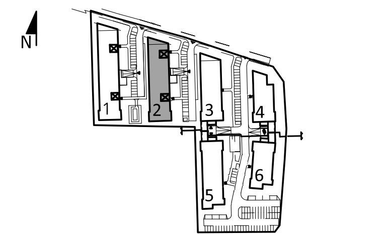 Uroczysko I / budynek 2 / klatka C / mieszkanie C/4/M2 rzut 3