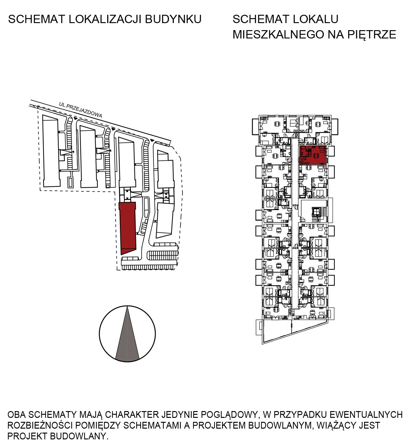 Uroczysko III / budynek 5 / mieszkanie G/2/44 rzut 2