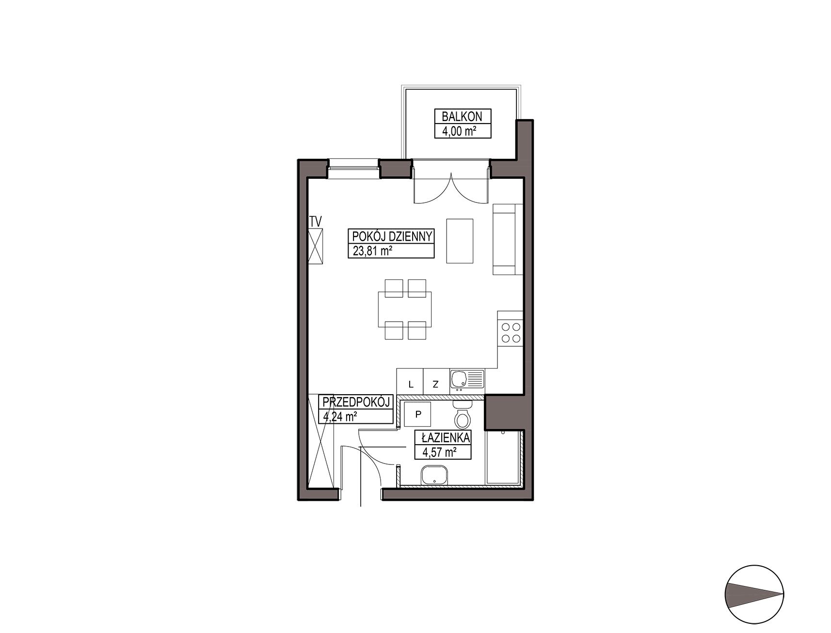 Uroczysko III / budynek 5 / mieszkanie G/1/26 rzut 1