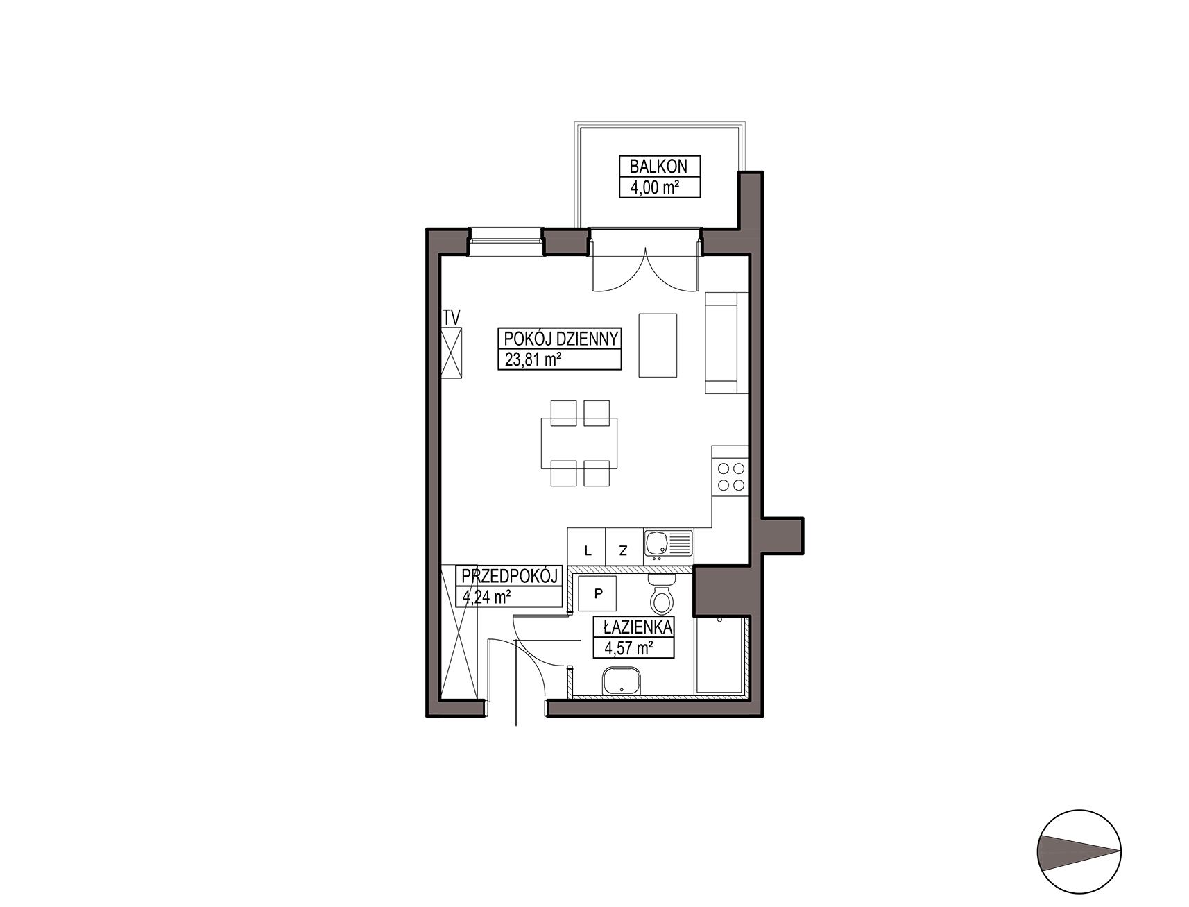 Uroczysko III / budynek 5 / mieszkanie G/0/11 rzut 1