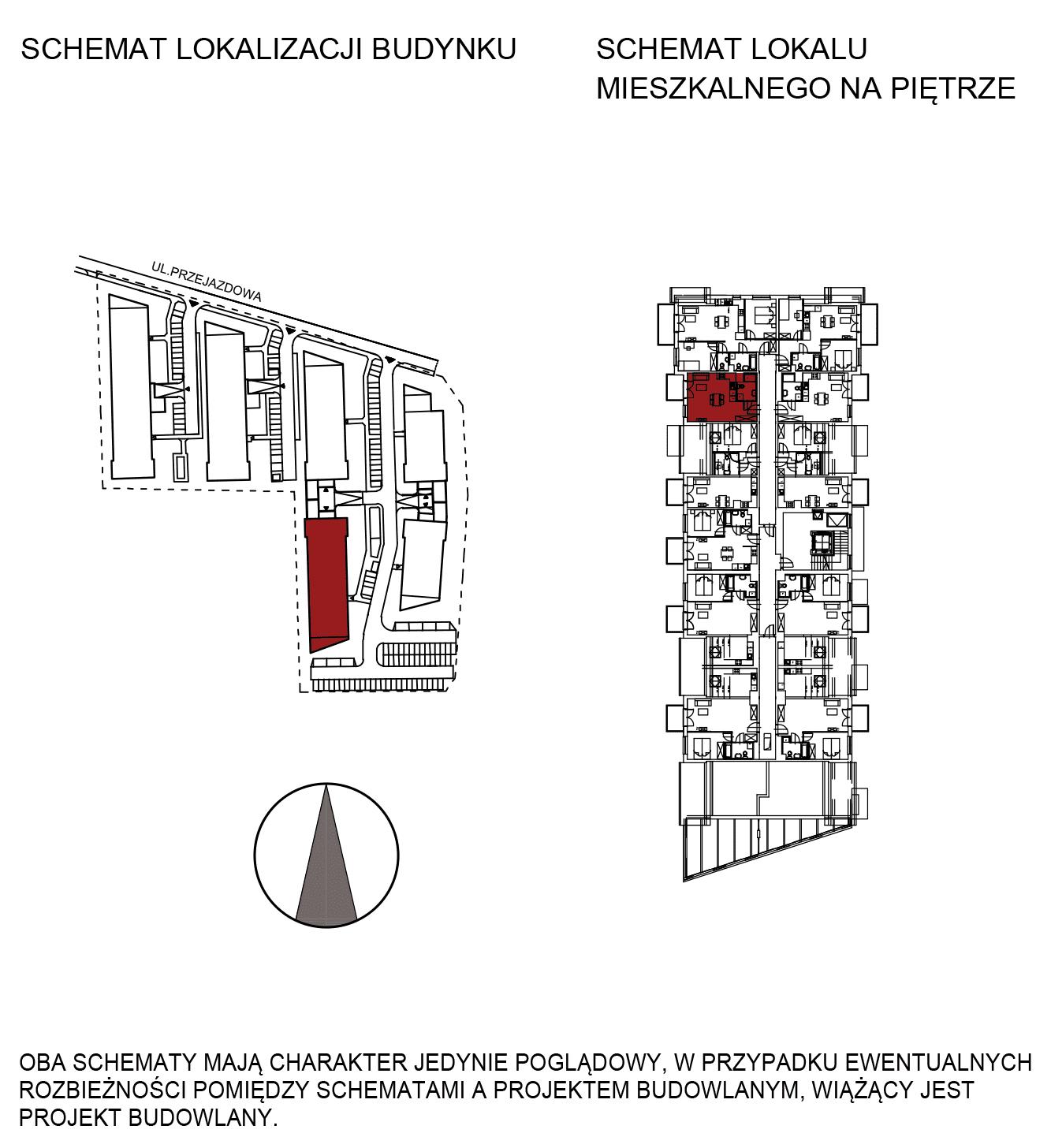 Uroczysko III / budynek 5 / mieszkanie G/3/52 rzut 2