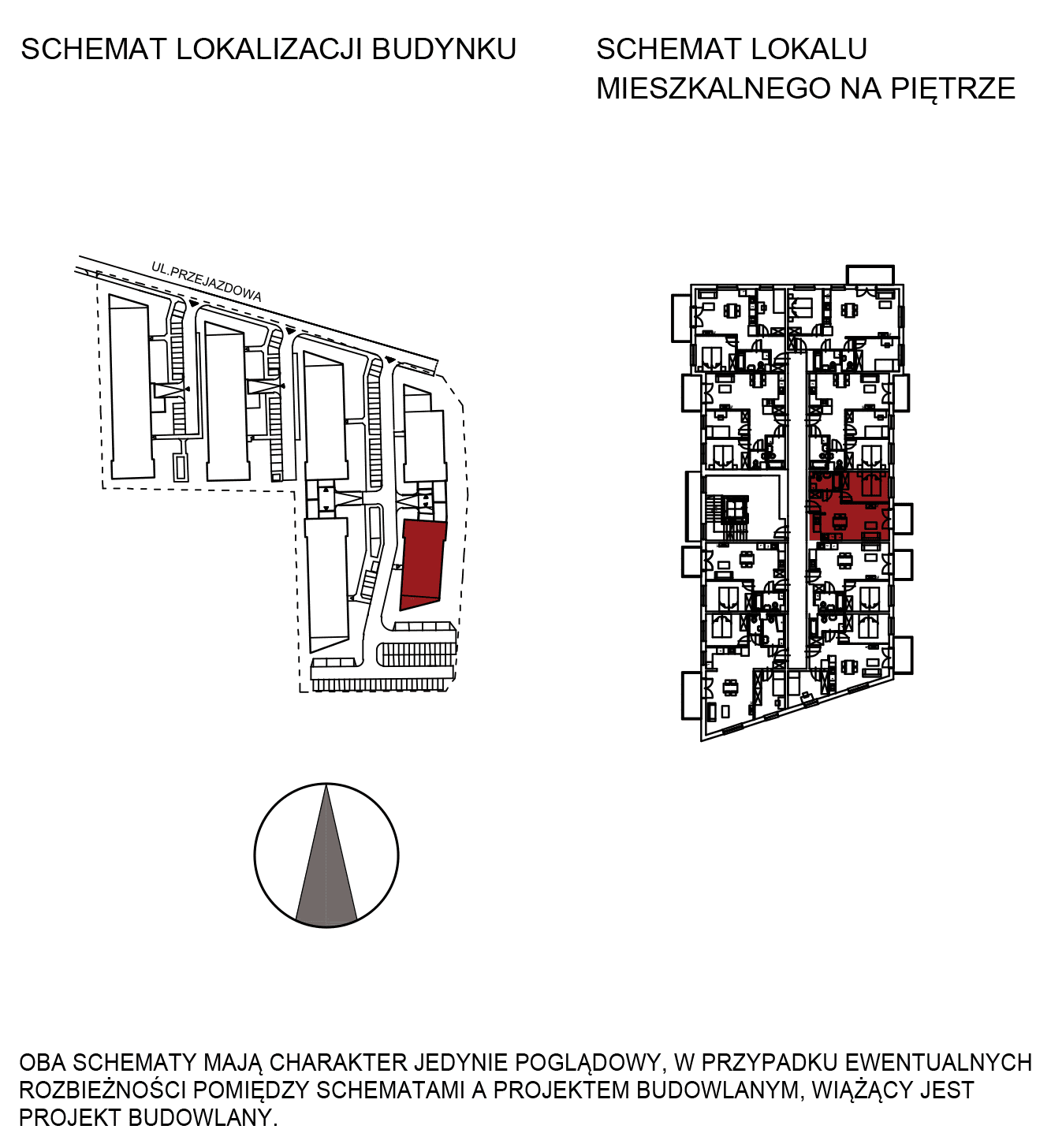 Uroczysko III / budynek 6 / mieszkanie H/1/14 rzut 2