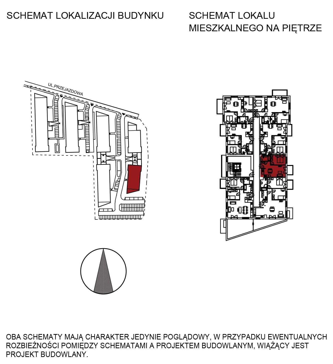 Uroczysko III / budynek 6 / mieszkanie H/2/23 rzut 2