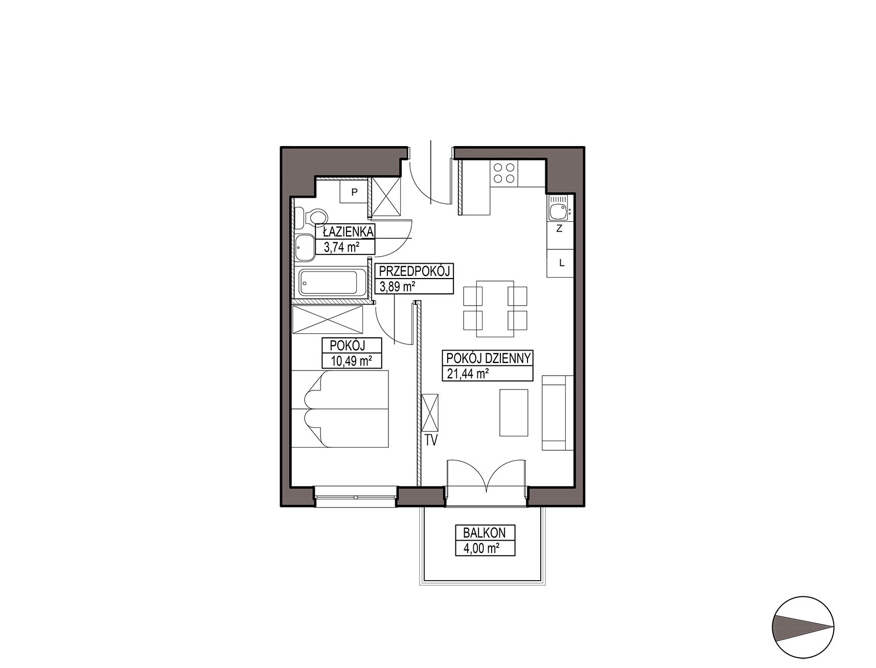 Uroczysko III / budynek 5 / mieszkanie G/0/3 rzut 1