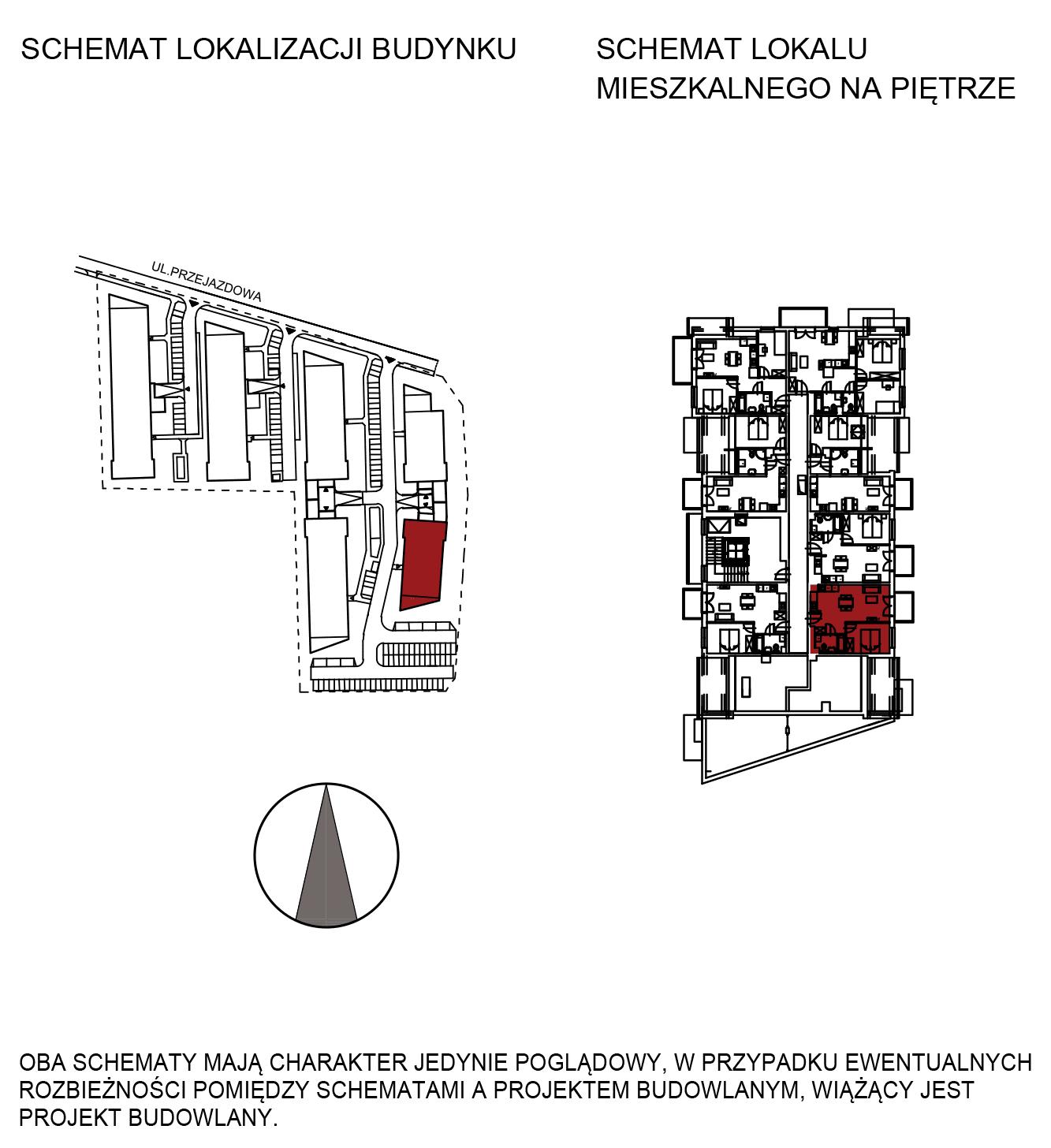 Uroczysko III / budynek 6 / mieszkanie H/3/33 rzut 2