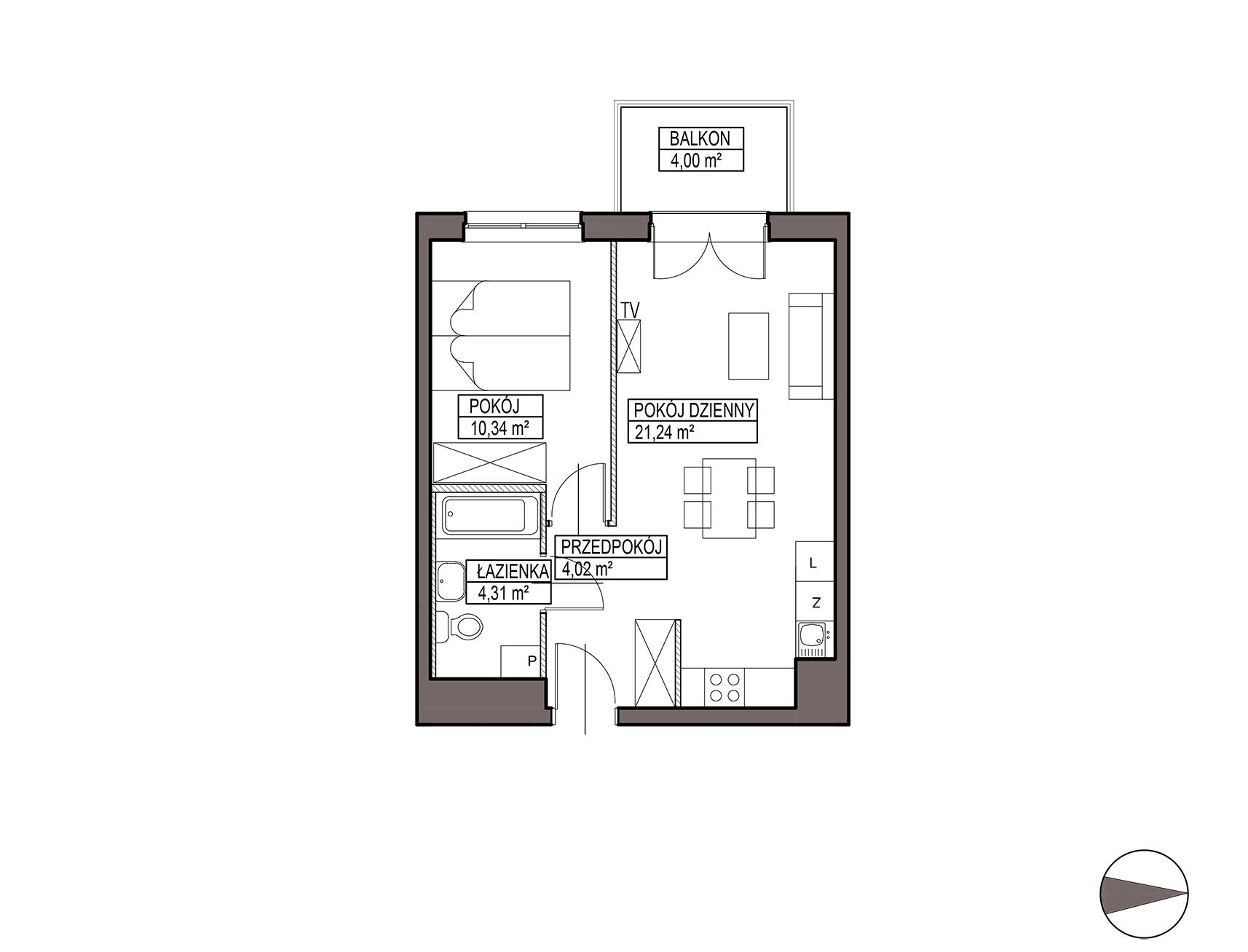 Uroczysko III / budynek 5 / mieszkanie G/1/21 rzut 1