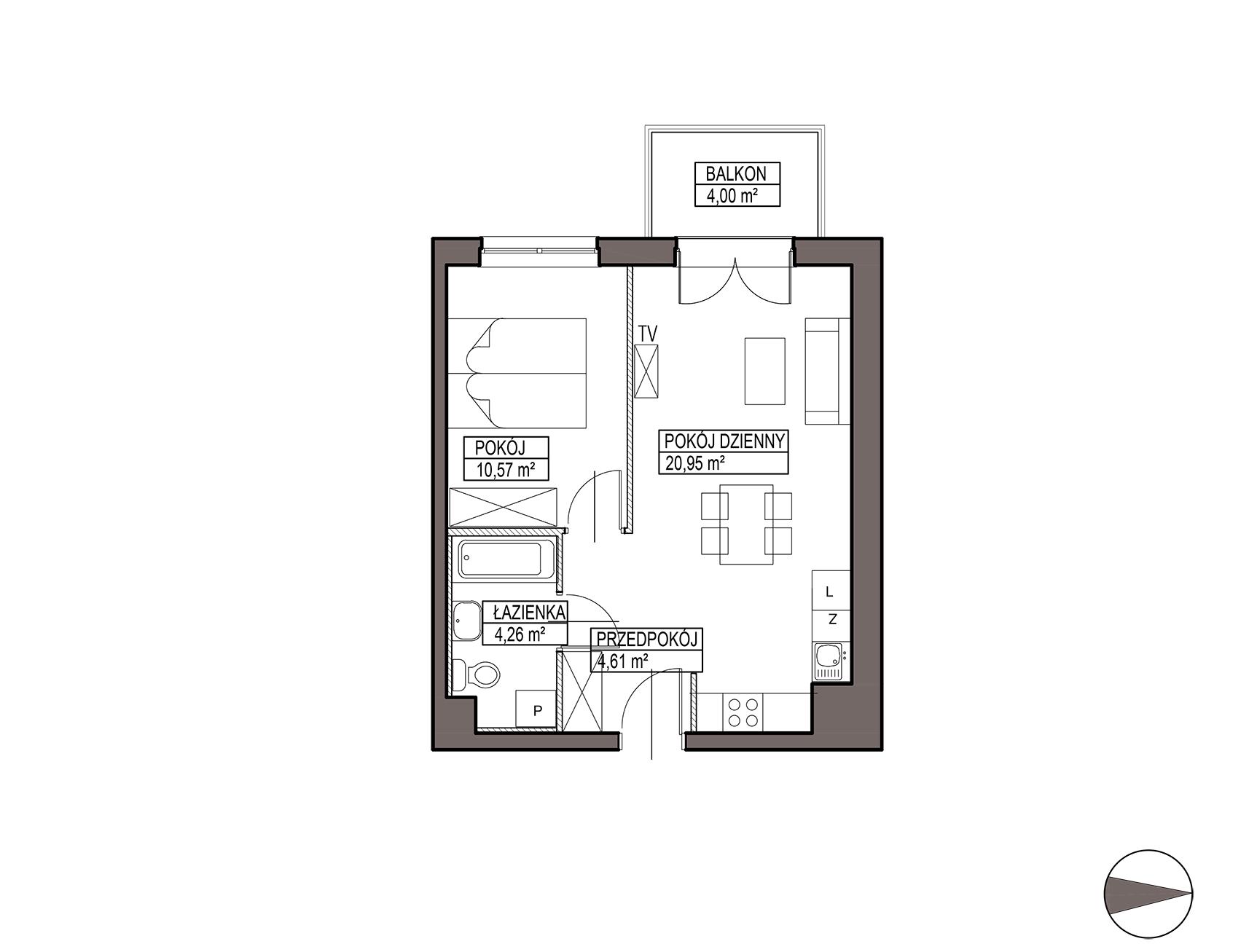Uroczysko III / budynek 5 / mieszkanie G/0/8 rzut 1