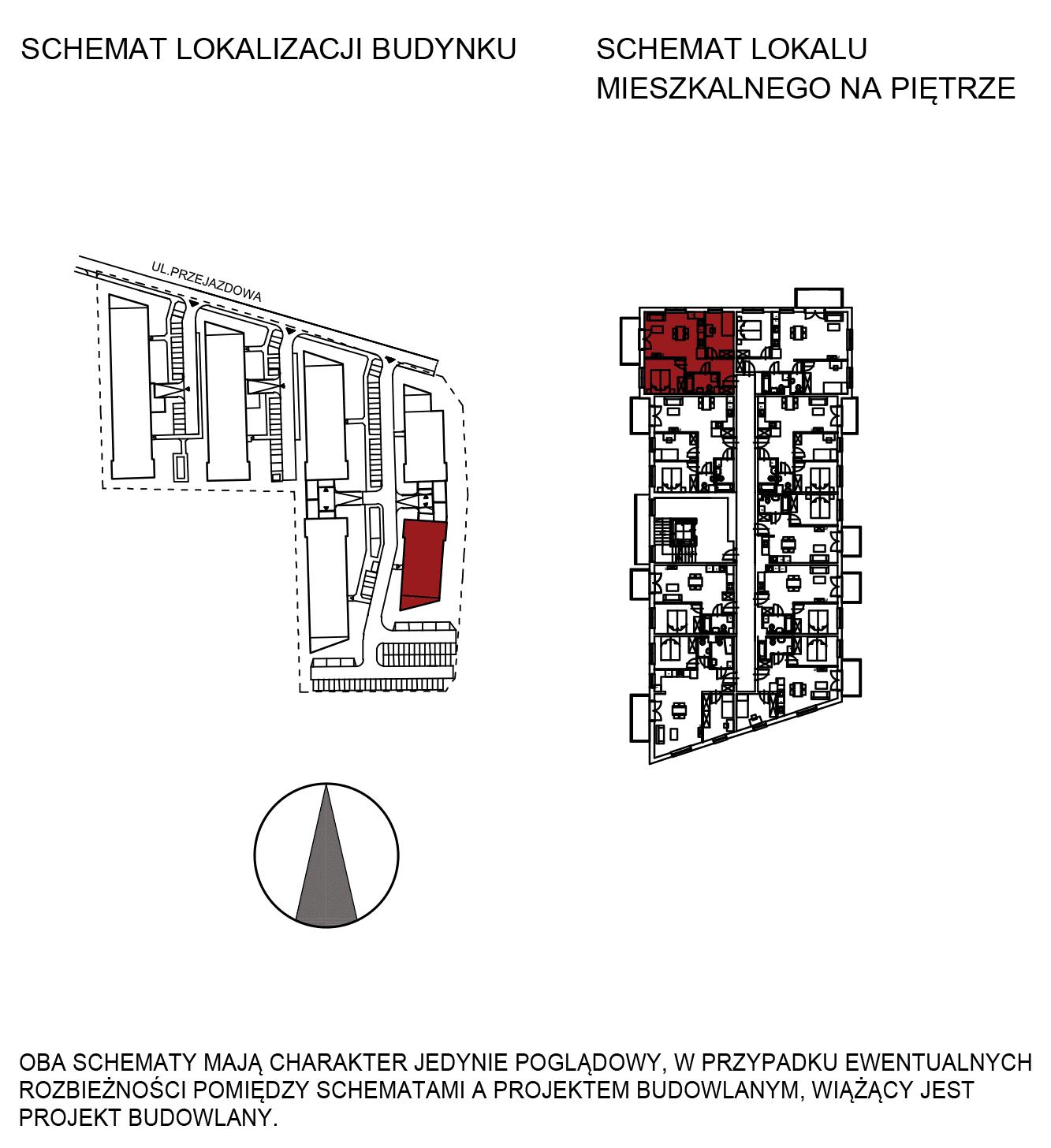 Uroczysko III / budynek 6 / mieszkanie H/1/11 rzut 2