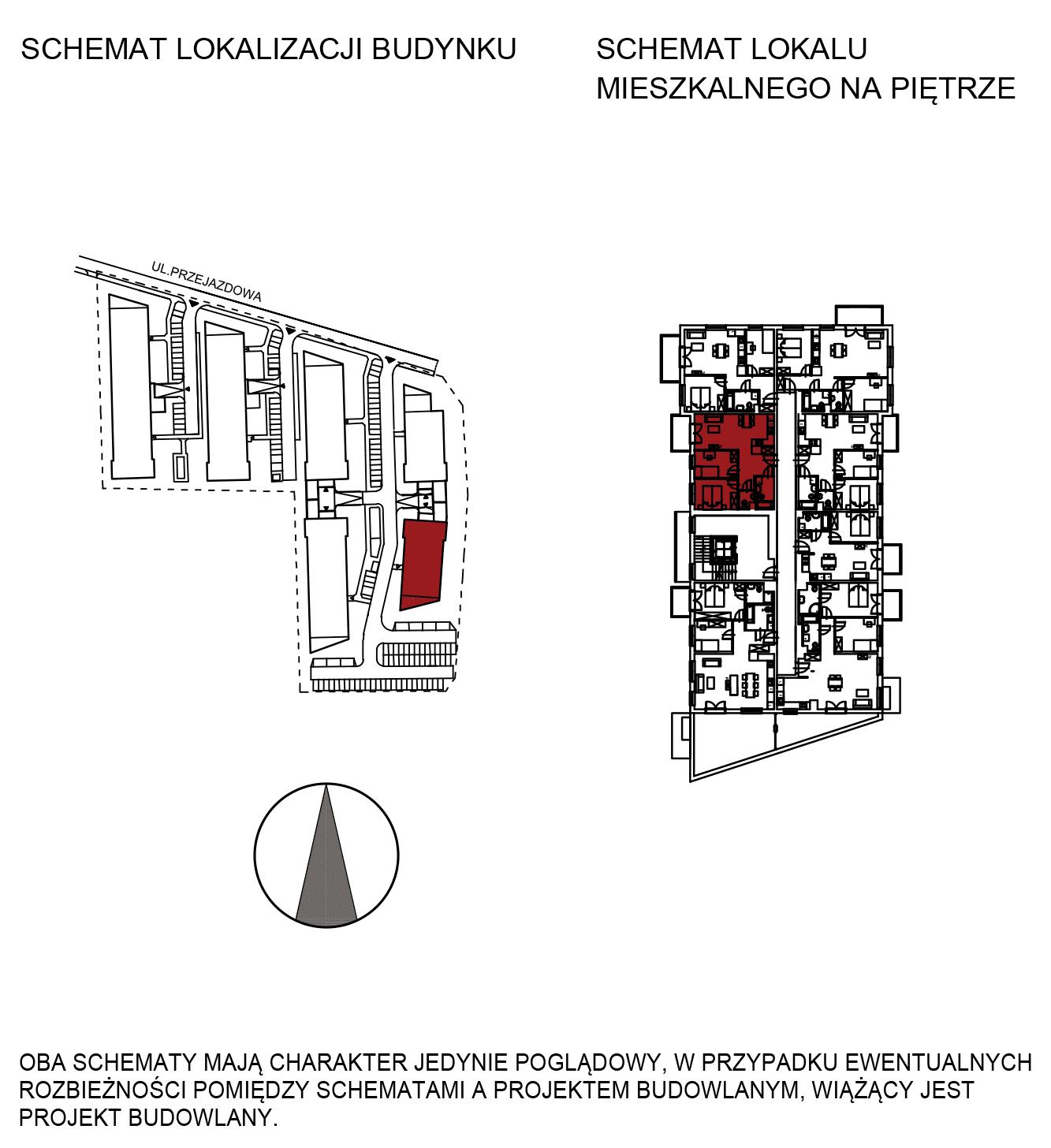 Uroczysko III / budynek 6 / mieszkanie H/2/19 rzut 2