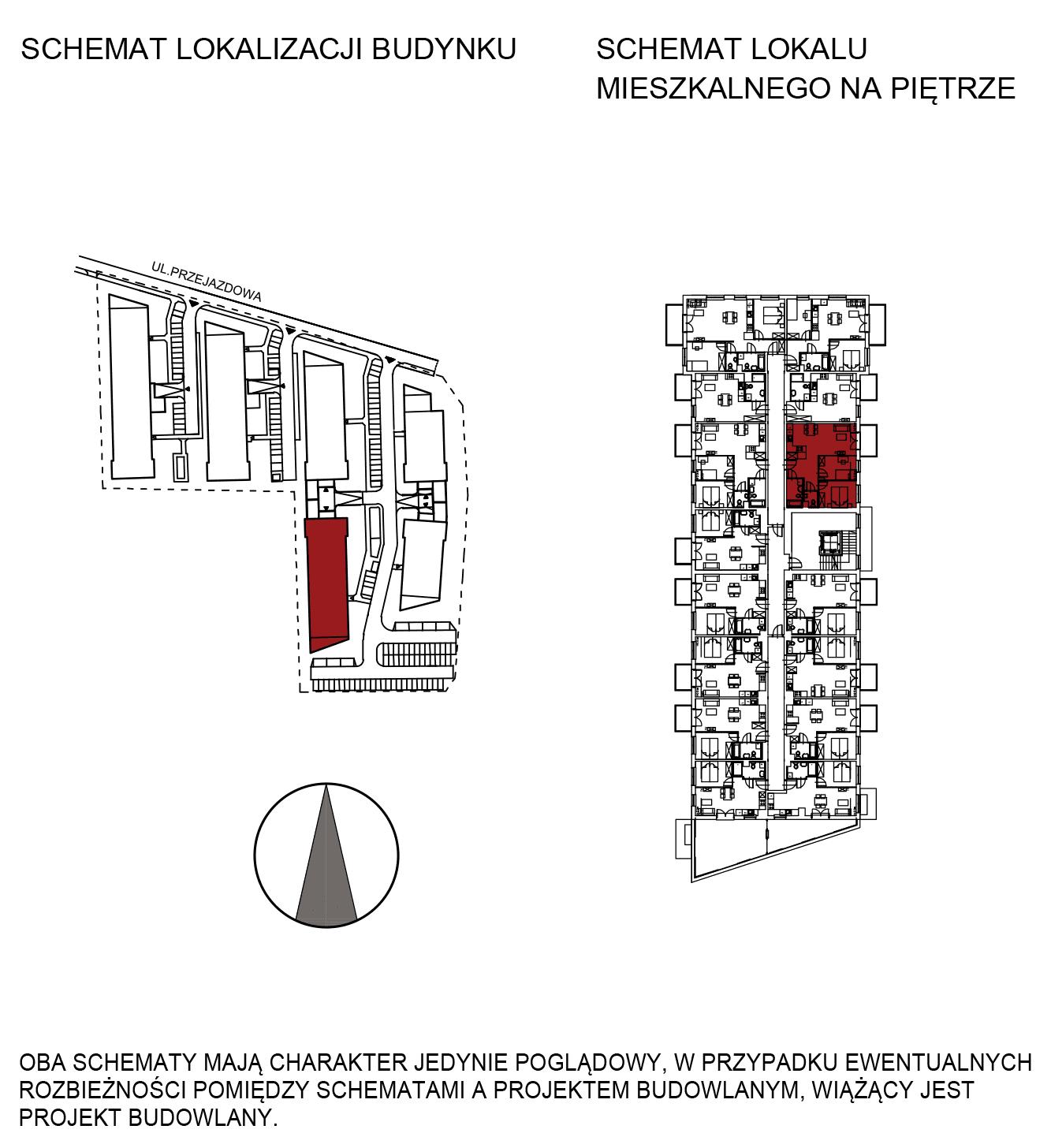 Uroczysko III / budynek 5 / mieszkanie G/2/45 rzut 2