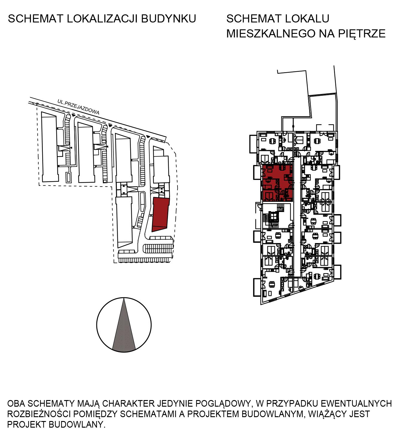Uroczysko III / budynek 6 / mieszkanie H/0/1 rzut 2