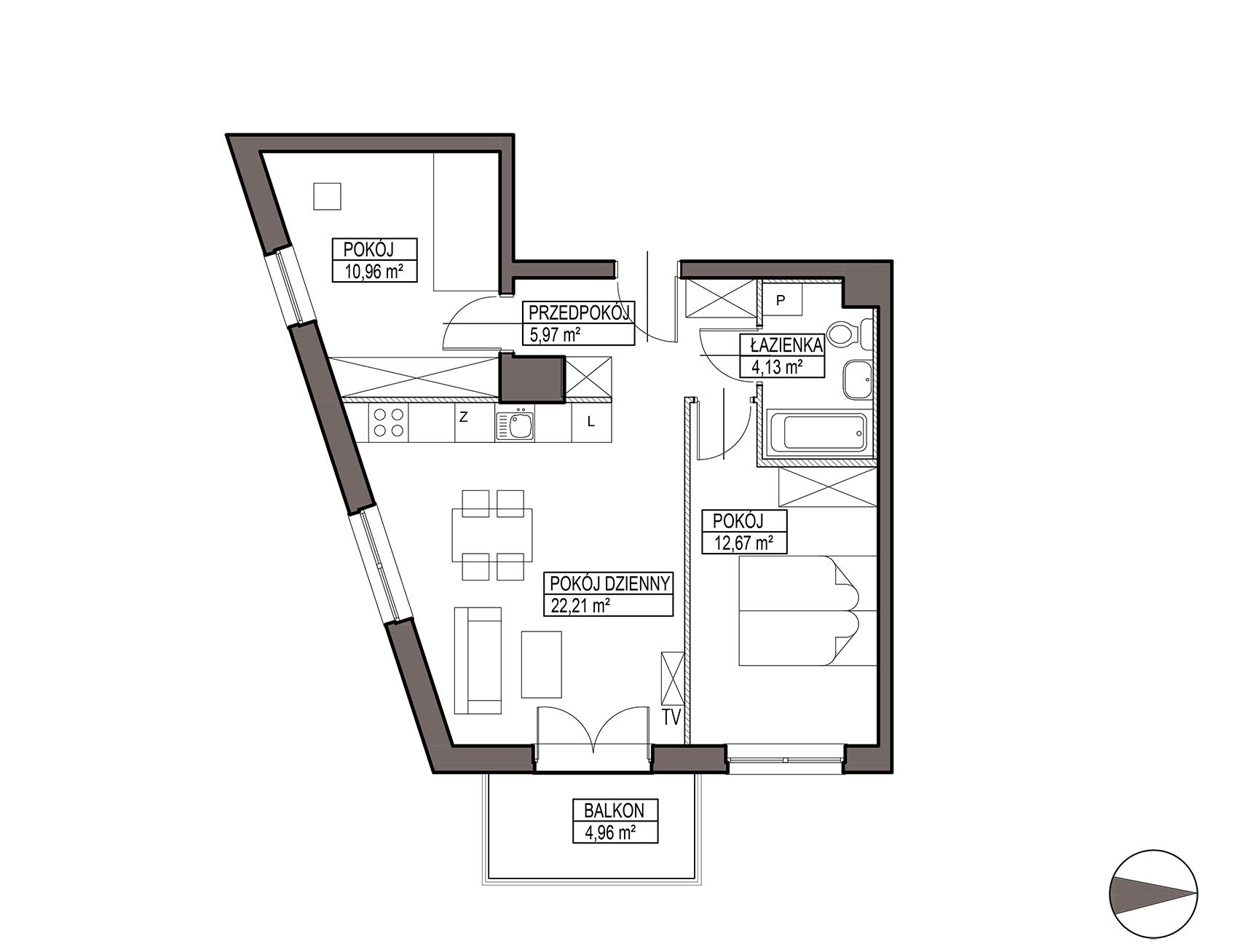 Uroczysko III / budynek 5 / mieszkanie G/0/4 rzut 1