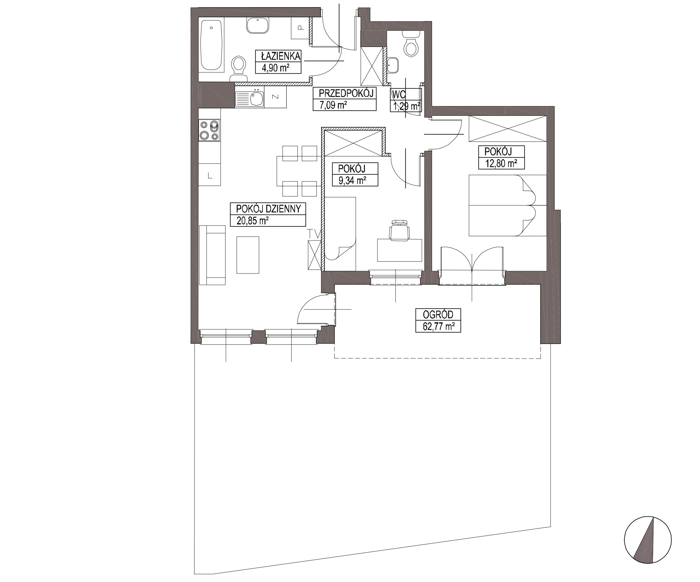 Kameralna Olszówka / budynek 1 / mieszkanie KO/A/0/2 rzut 1