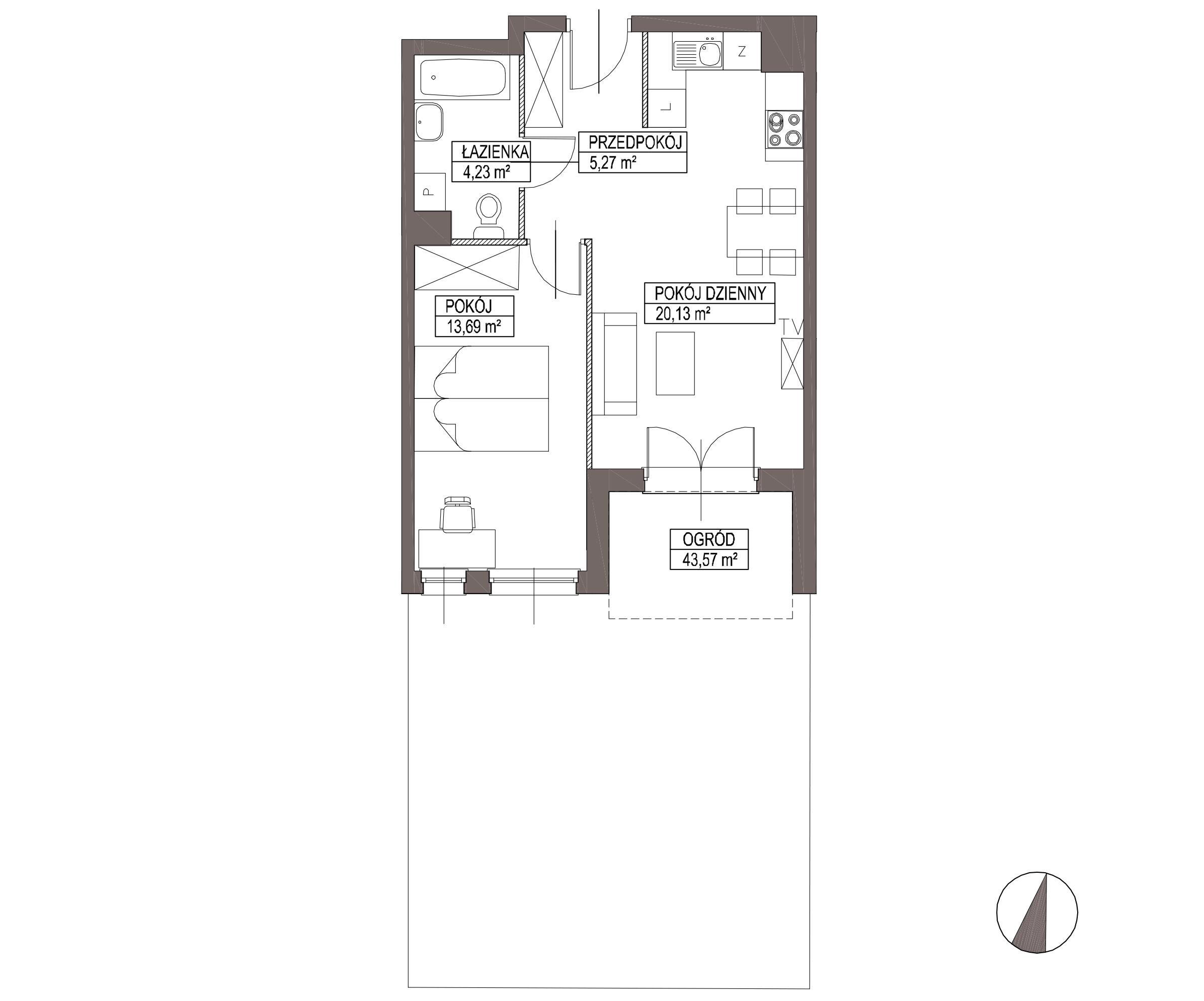 Kameralna Olszówka / budynek 1 / mieszkanie KO/A/0/4 rzut 1