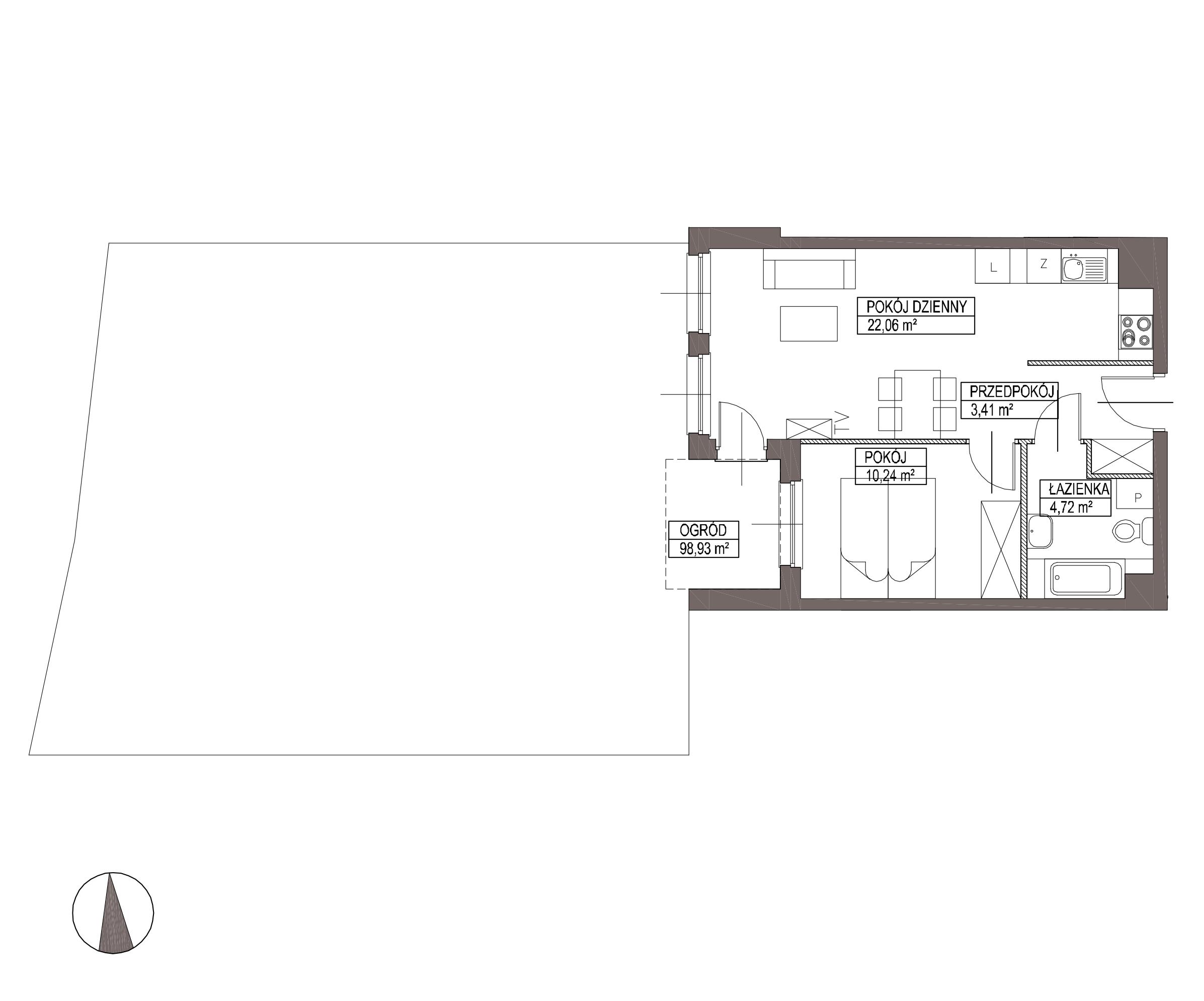 Kameralna Olszówka / budynek 1 / mieszkanie KO/A/0/8 rzut 1