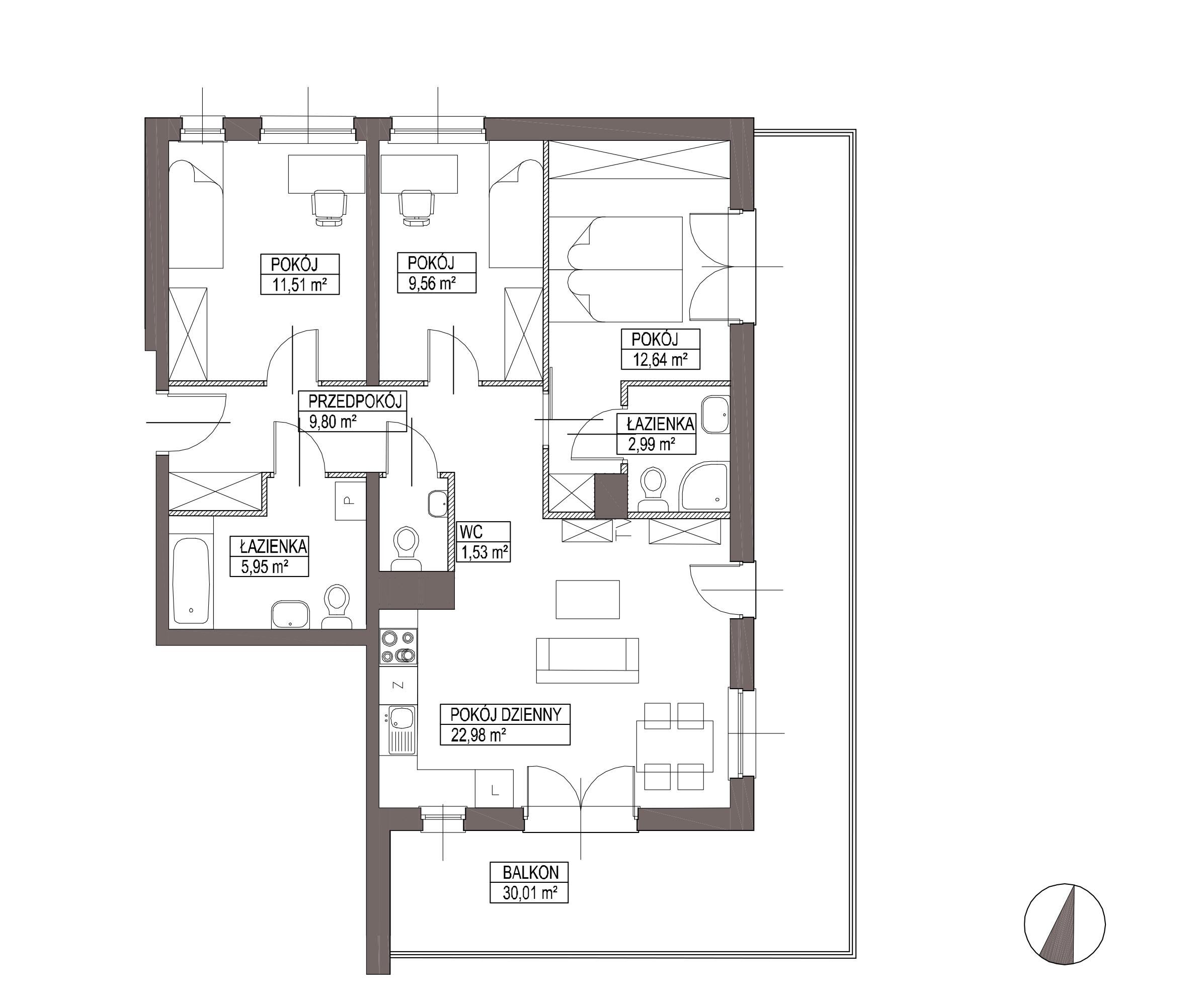 Kameralna Olszówka / budynek 1 / mieszkanie KO/A/2/1 rzut 1