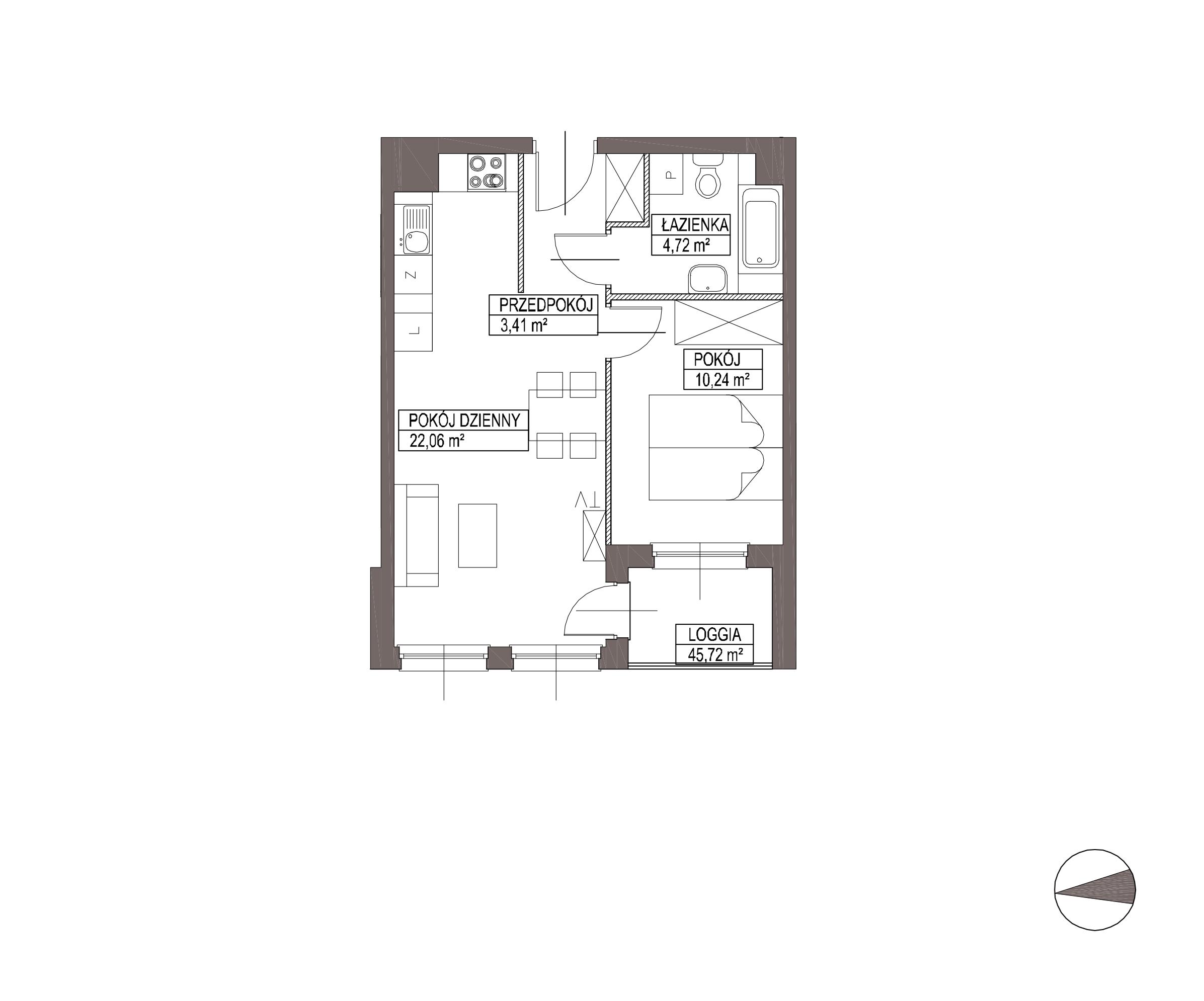 Kameralna Olszówka / budynek 1 / mieszkanie KO/A/2/8 rzut 1