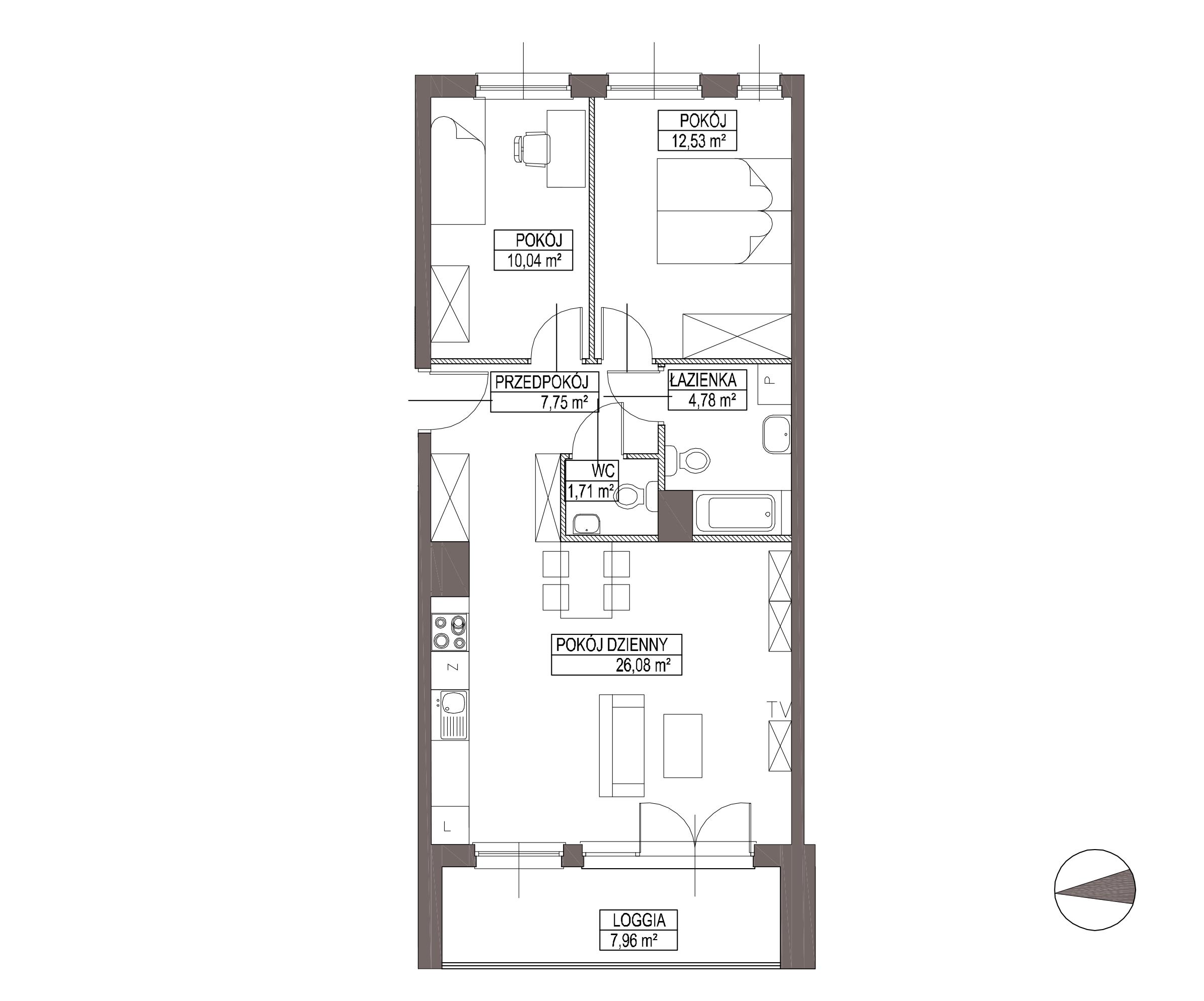 Kameralna Olszówka / budynek 1 / mieszkanie KO/B/2/1 rzut 1